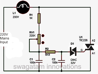 How To Make A Simplest Triac Dimmer Switch Circuit Homemade