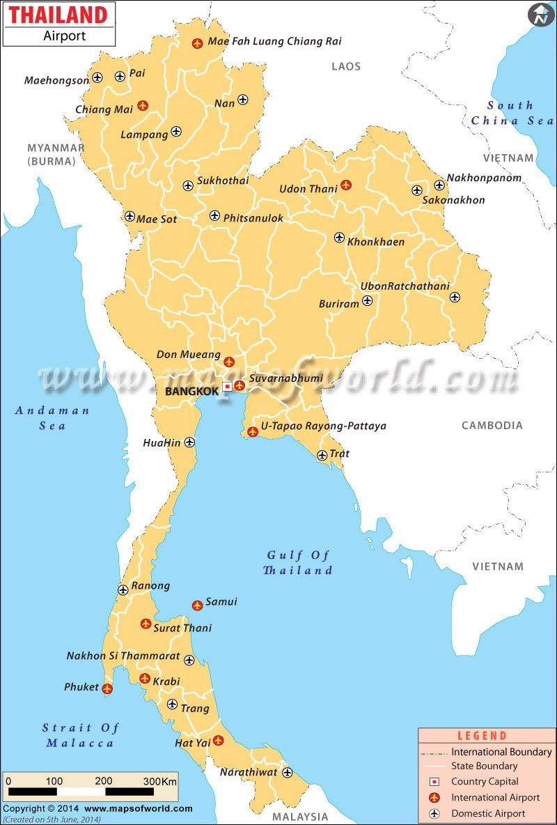 Airports in Thailand Maps