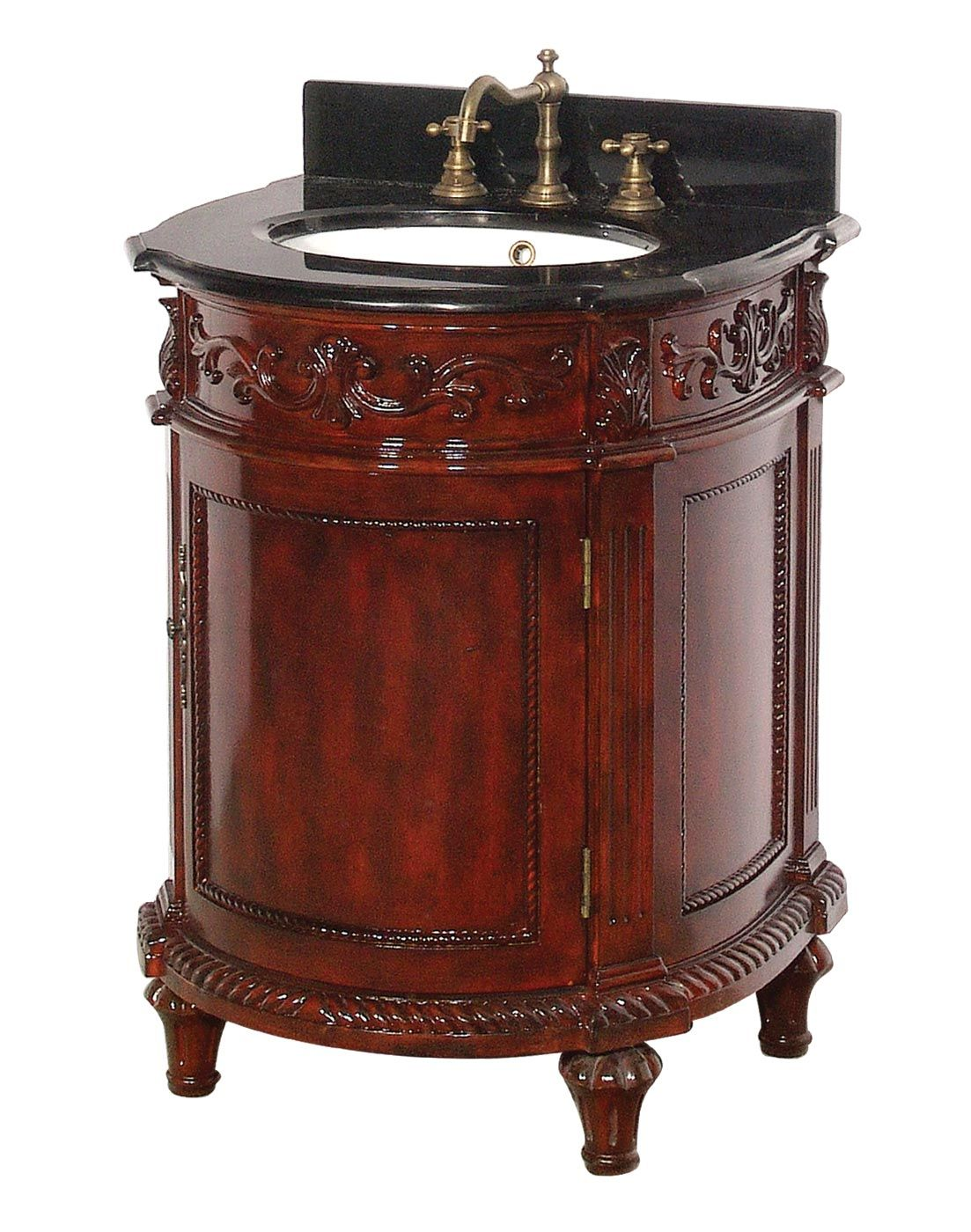 Cherry Finish Antique Bathroom Vanity Dreamline Dlvbj015Ac Solid Impressive Antique Bathroom Vanities Inspiration Design