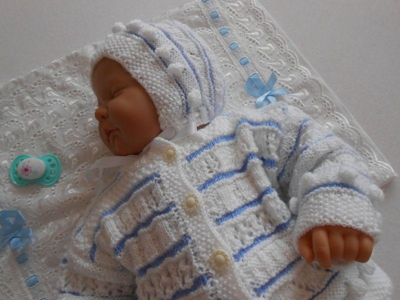 Babygarnitur 2 Teilig Gr 50 56 Von Babystrickkiste Auf Dawandacom