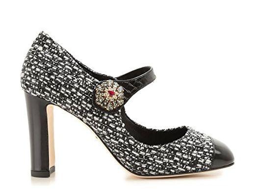 Dolce E Gabbana Damen Cd0134a276789690 Weiss/Schwarz Leder Absatzschuhe - Damen pumps (*Partner-Link)