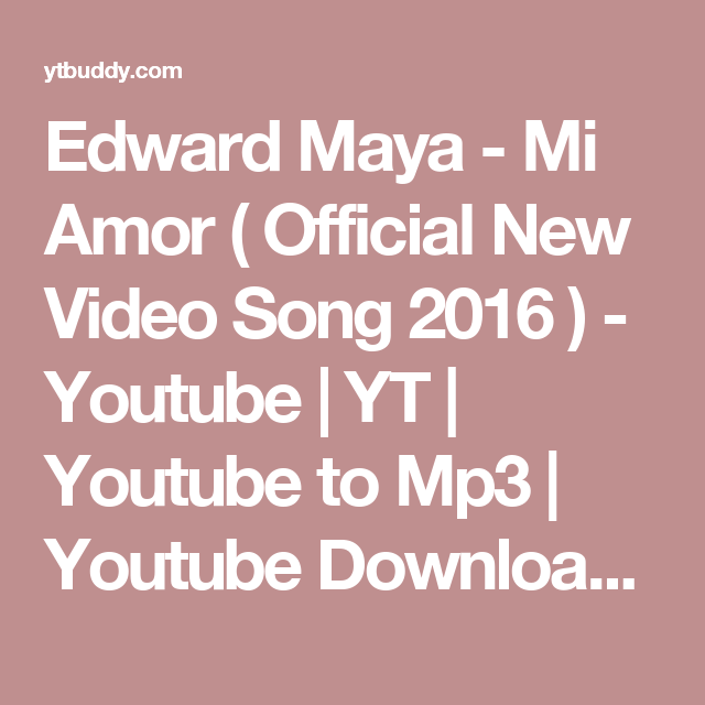 Edward Maya - Mi Amor ( Official New Video Song 2016 ) - Youtube