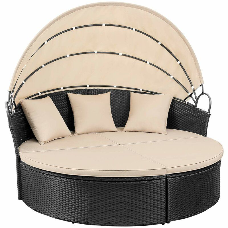 Leiston Round Patio Daybed With Cushions In 2020 Outdoor Daybed