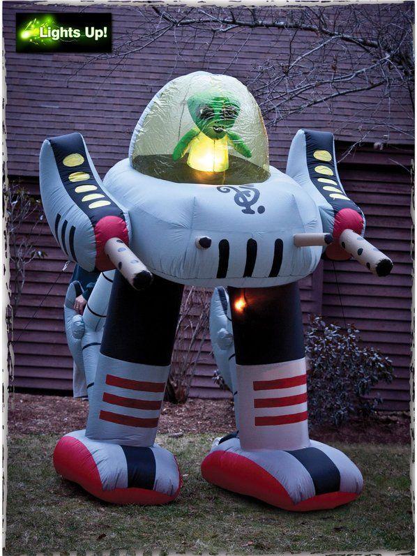 Alien Robot Inflatable Prop Pinterest Aliens and Robot - halloween decorations at walmart