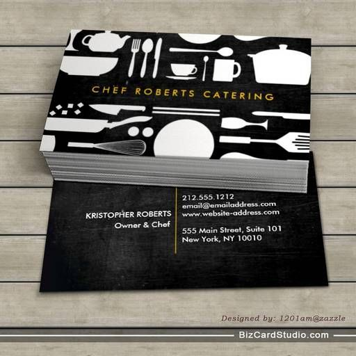 black and white kitchen collage no. 4 business card | card