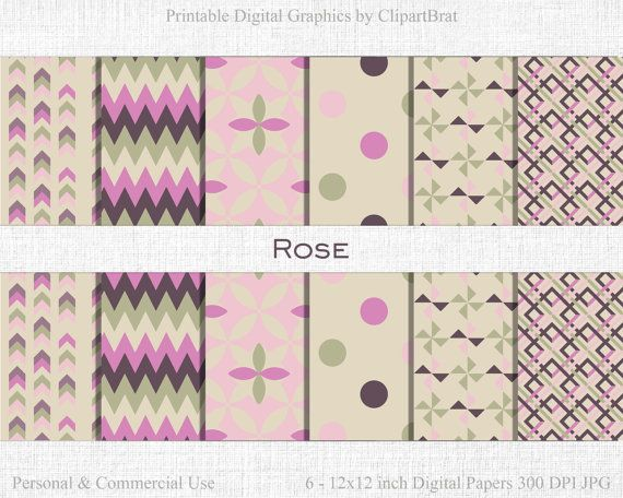 ROSE Digital Paper Commercial Use Digital Paper by ClipArtBrat