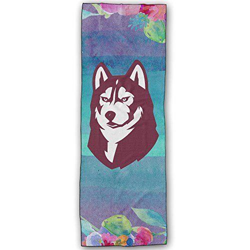 Bloomsburg Huskies Logo Yoga Mat Towel ** Click on the image for additional details.