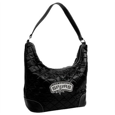 San Antonio Spurs Black Quilted Hobo Purse