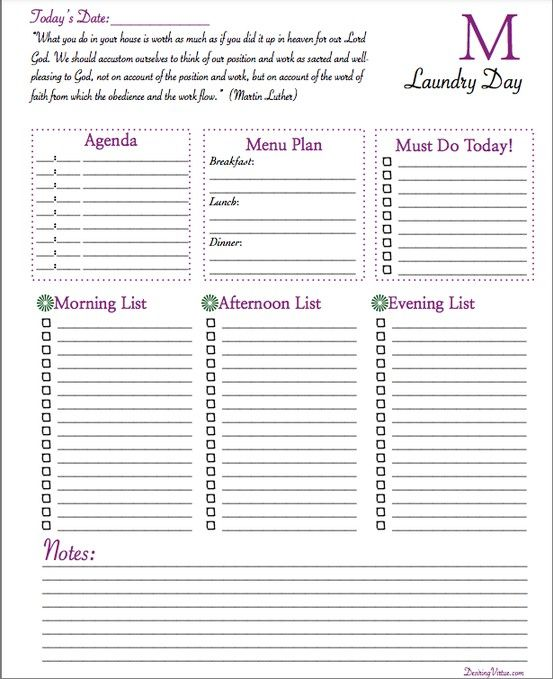 Customizable Daily Planner {Free Printable} Simple Organized - free daily planner download