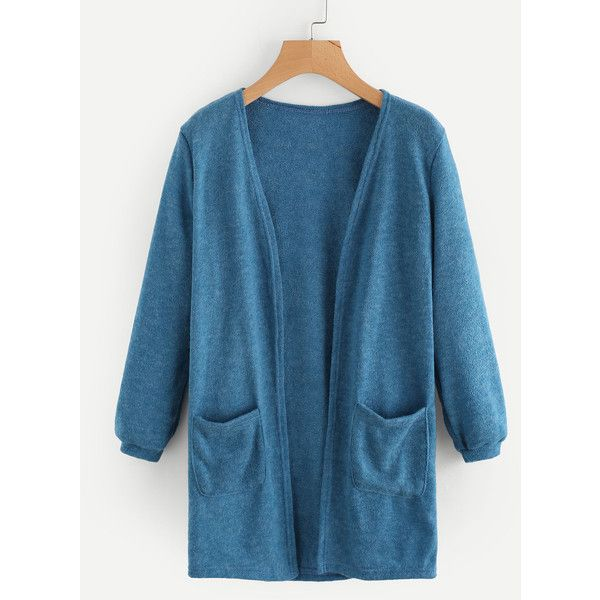 SheIn(sheinside) Elastic Cuff Cardigan With Pockets (755 RUB ...