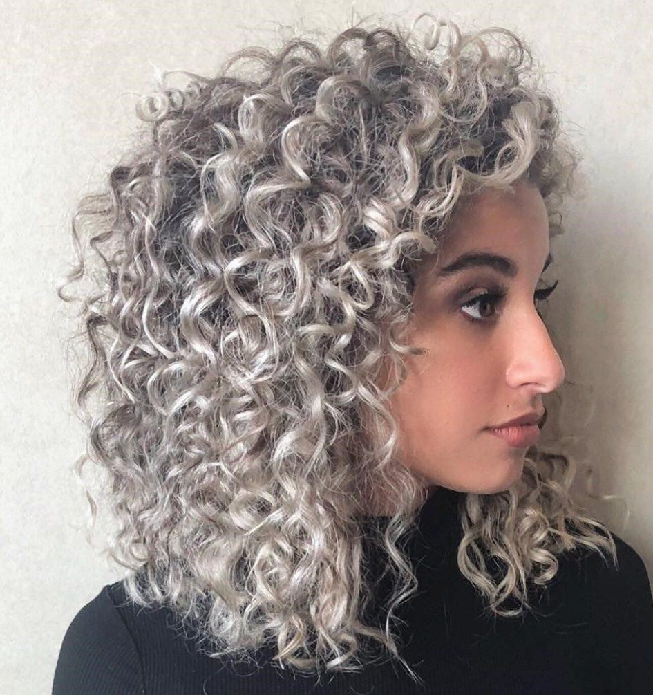 40 Bombshell Silver Hair Color Ideas For 2020 Hair Adviser In 2020 Silver White Hair Silver Blonde Hair Curly Silver Hair