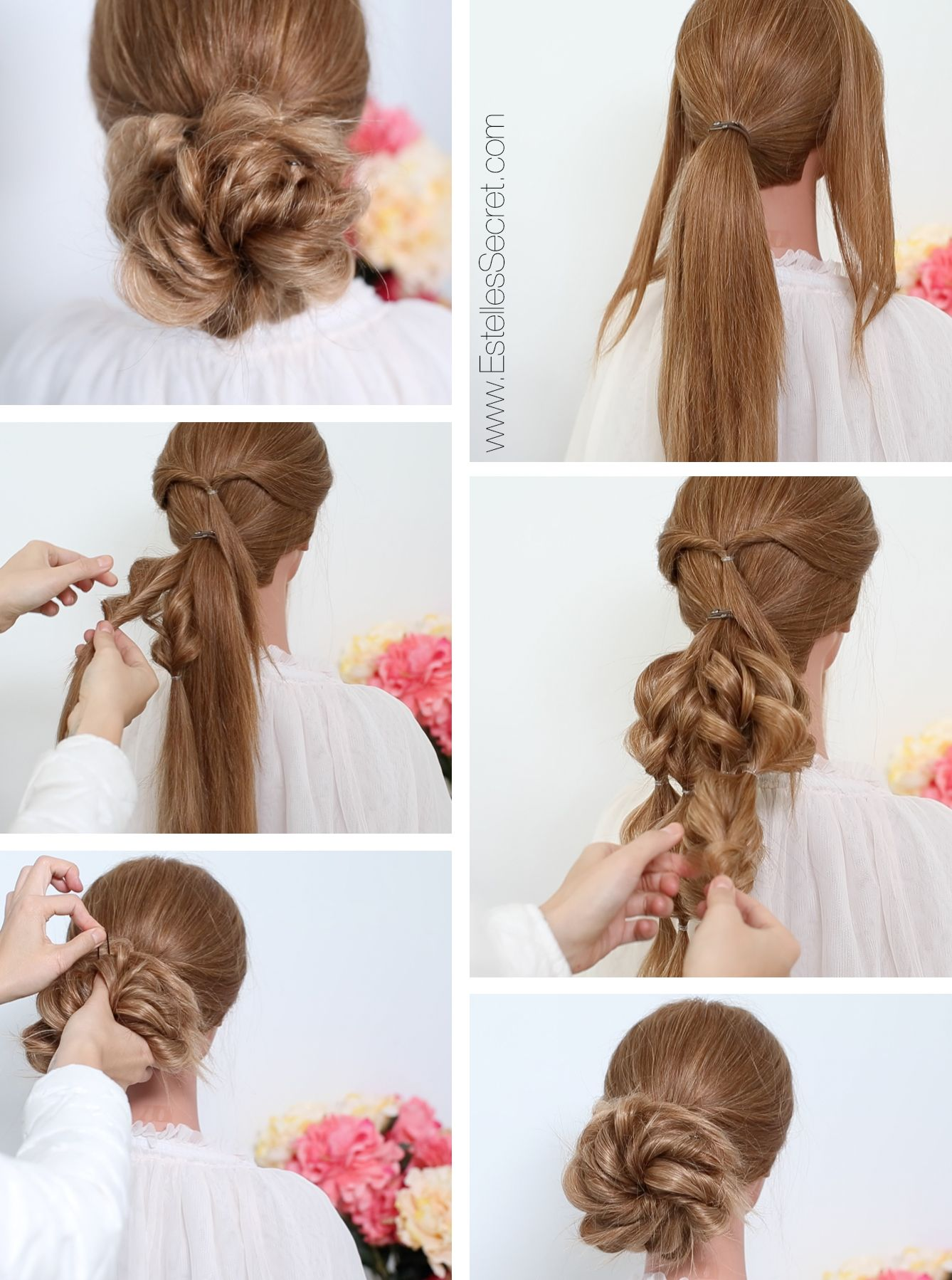 Bridal Low Bun Hairstyle using Estelles Secret hair extensions. See ...