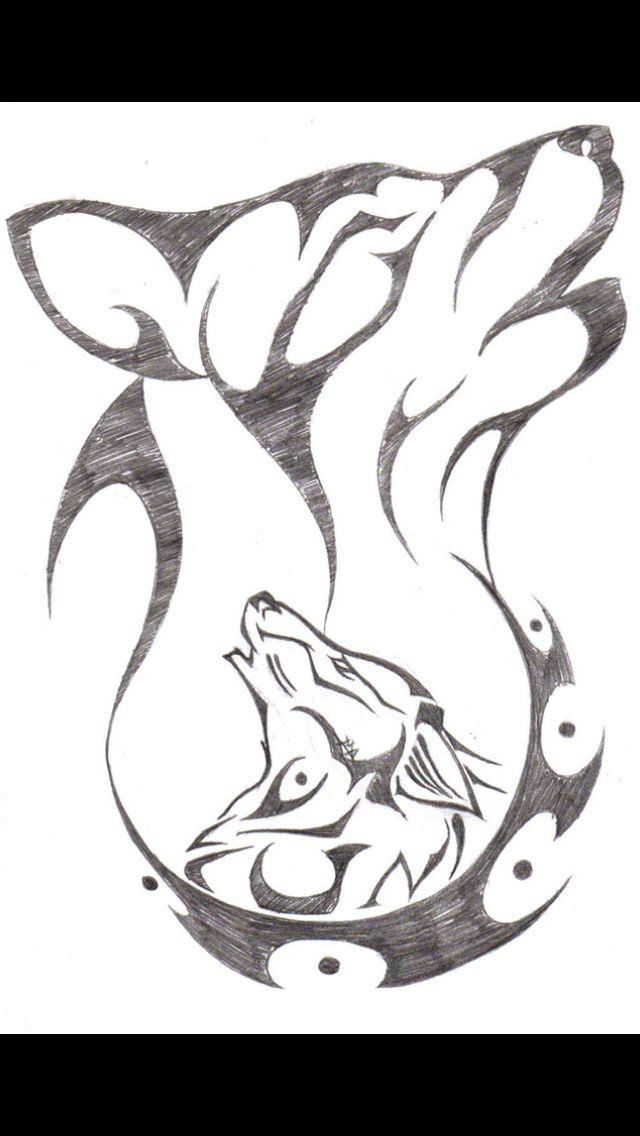 Pin de Ruchi Bil en Everything | Pinterest | Dibujo, Lobos y Dibujar