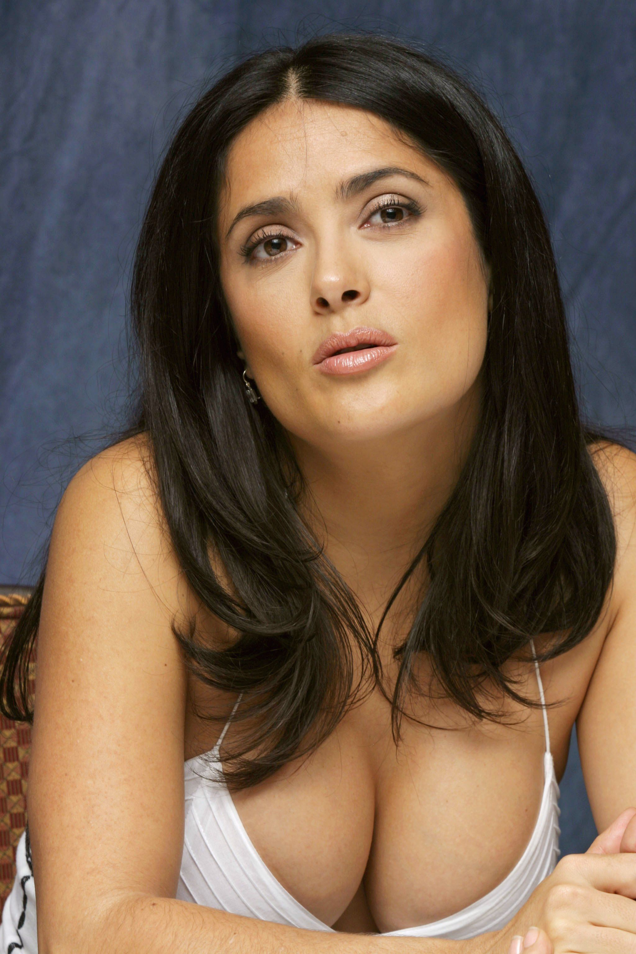 Apologise, young salma hayek topless with