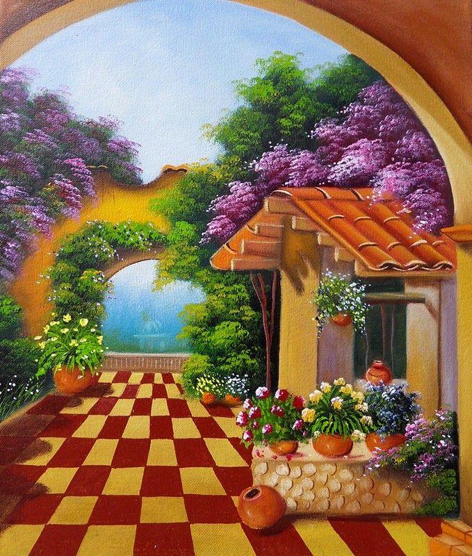 Trabs pintura en puntillismo buscar con google - Pinturas para la casa ...