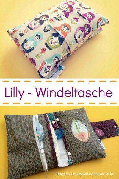 Lilly - Windeltasche, Kreativ-Ebook | Taschen | Pinterest | Nähen ...