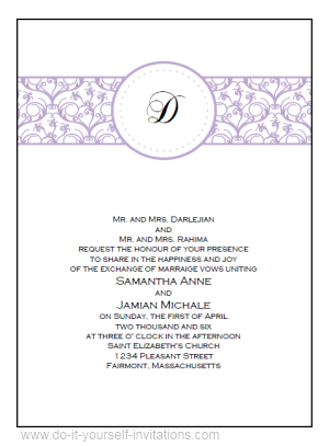 Free Online Wedding Invitation Templates Templates Collection