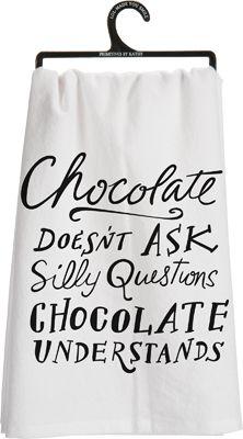 Item # 25253 | Tea Towel - Chocolate | Primitives by Kathy