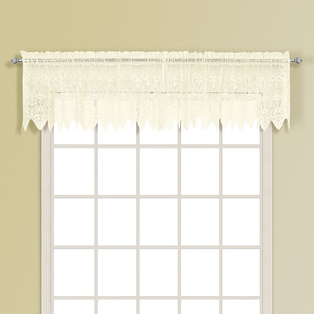 Garden window coverings  united curtain co valerie valance  uu x uu purple  valance