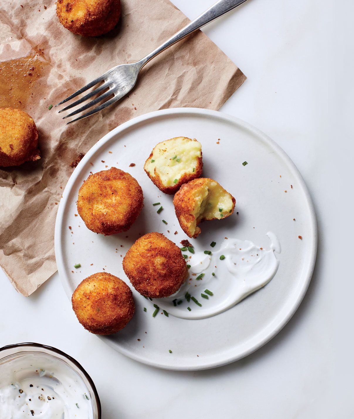 Dish Salmon Croquettes: Mashed Potato Croquettes