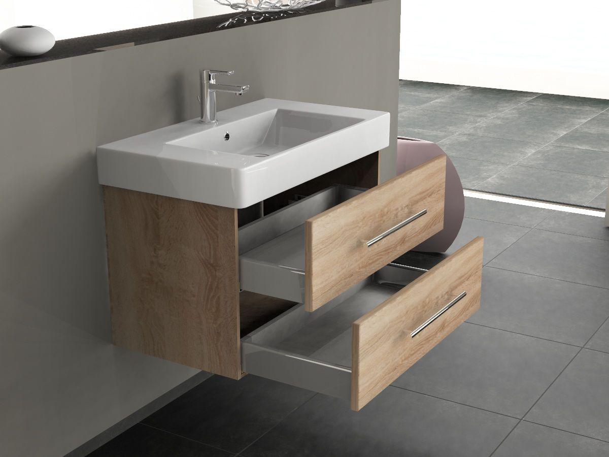 Badmobel 80 Eiche Gold Kaufen Waschbecken Fl 80 Kp Eg Badtraum24 De Waschbecken Waschtisch 80 Cm Badezimmer Waschbecken