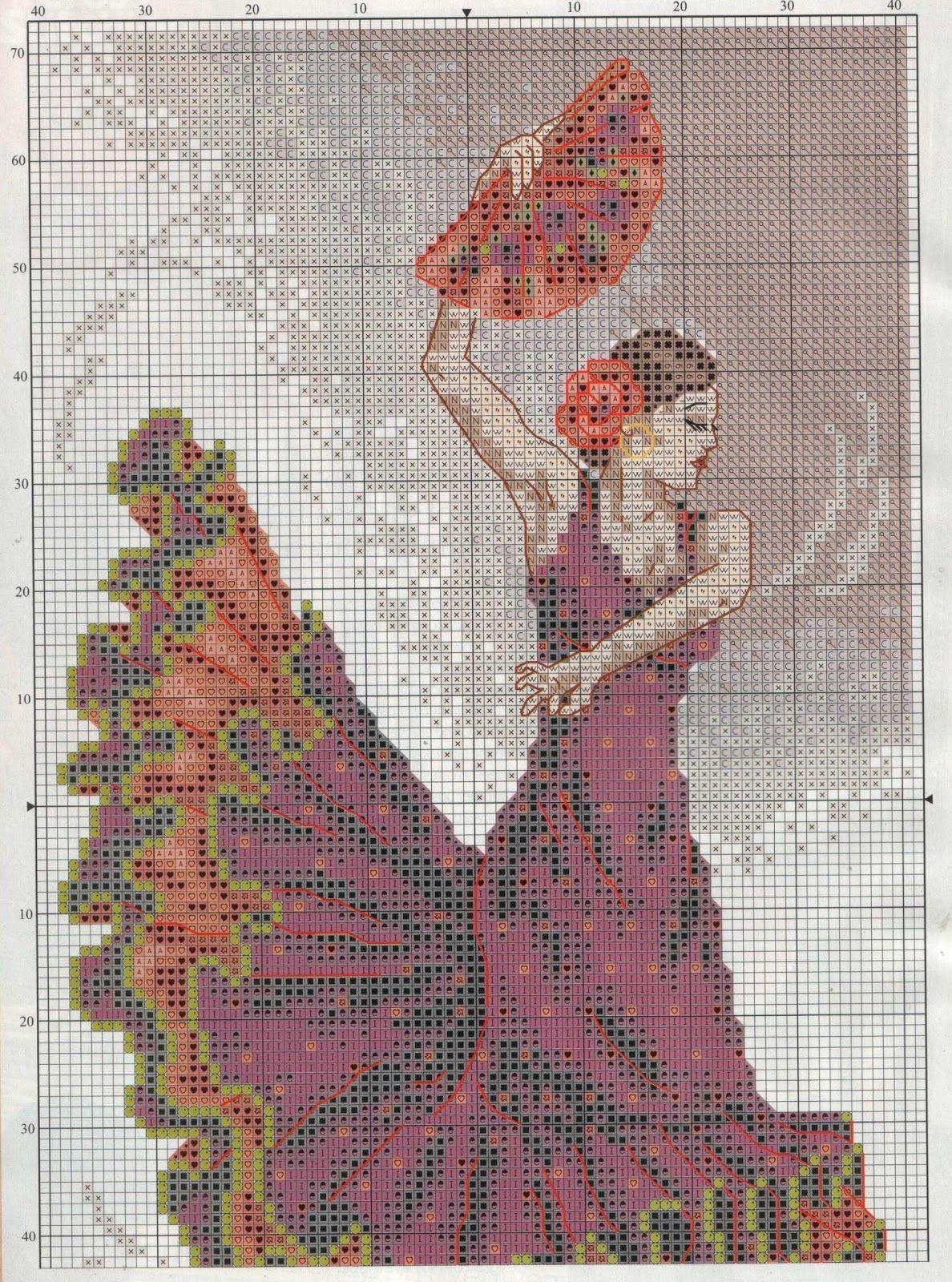 Free Graphics Point Cross Dancers Flamenco Dancer Pg 3