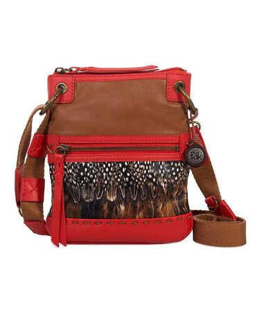 Take a look at this Feather Patch Pax Crossbody Bag by The Sak on #zulily today! $35 !!