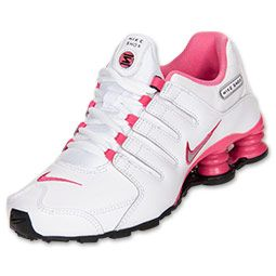 more photos 62a60 2edcc Girls  Grade School Nike Shox NZ Running Shoes   FinishLine.com    White Metallic Silver Black Dynamic Pink