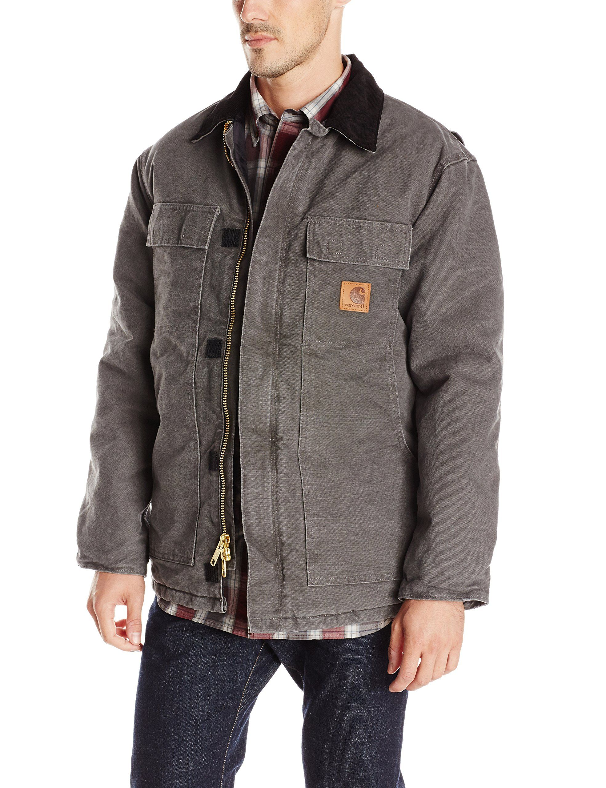 37af82b6cb13a Amazon.com: Carhartt Men's Arctic Quilt Lined Sandstone Traditional Coat  C26: Carhartt Jacket: Clothing