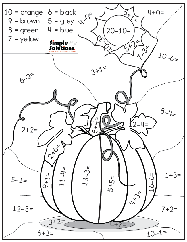 Download A Free Addition And Subtraction Color By Number Math Fall Addition Subtraction Math Activities Preschool Kids Math Worksheets Math Coloring