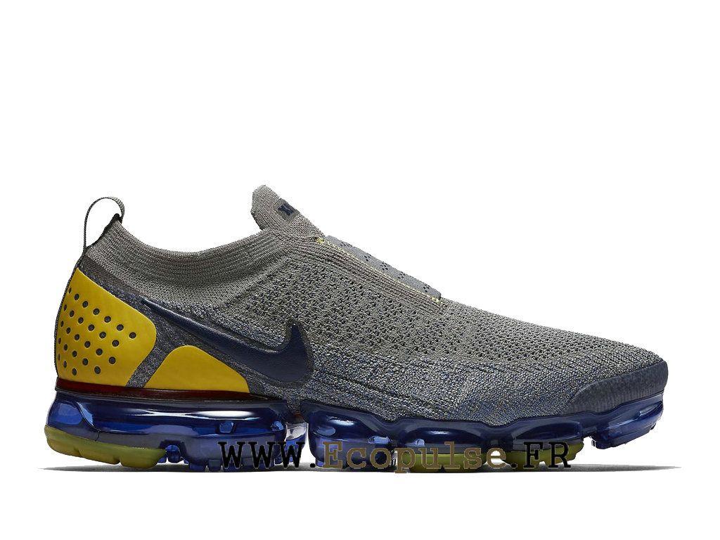 huge selection of 98b8f 21beb Nike Vapormax Flyknit 2.0 Chaussures Nike 2018 Pas Cher Pour Homme Bleu gris  AH7006-004