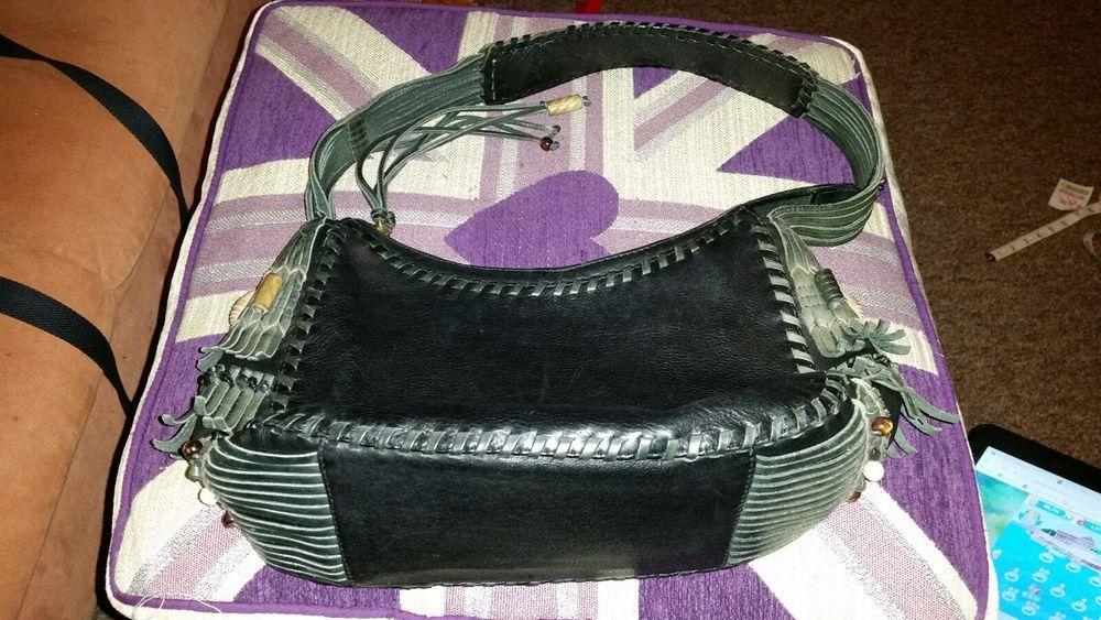 RADLEY DARK GREEN LEATHER SHOULDER BAG FRINGED | Bags. Shoulder bag. Leather shoulder bag