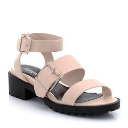 Flat Sandals With Wide Straps and Buckle Fastening