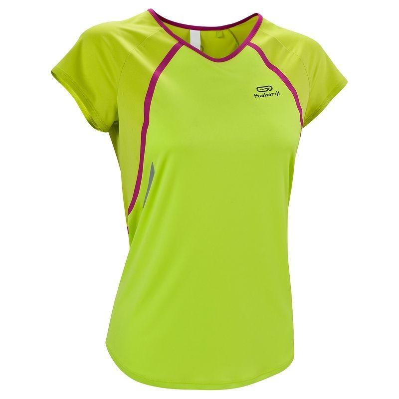 2d7c1bdc4e175 RUNNING textil - Camiseta de manga corta de running mujer Kalenji Kiprace  lima