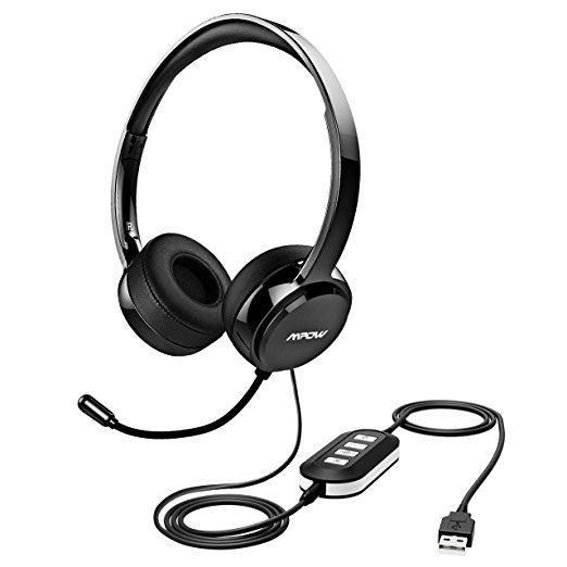 Mpow Usb Headset 3 5mm Computer Headset With Microphone Noise Cancelling Lightweight Pc Headset Wired Headphones Business Head Headphones Noise Cancelling Headphones Noise Cancelling Ear Muffs