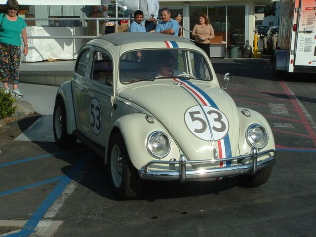 Herbie at Santa Monica Volkswagen for the Herbie Fully