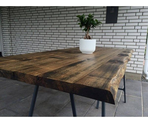 Efterstræbte Spisebord, Træ, b: 74 l: 170, Populært rustikt plankebord m JA-19