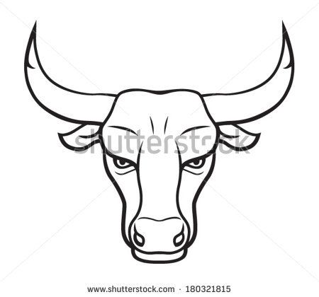 bull-face-drawing-ehbmxceb.jpg (450×420) | Bulls ...
