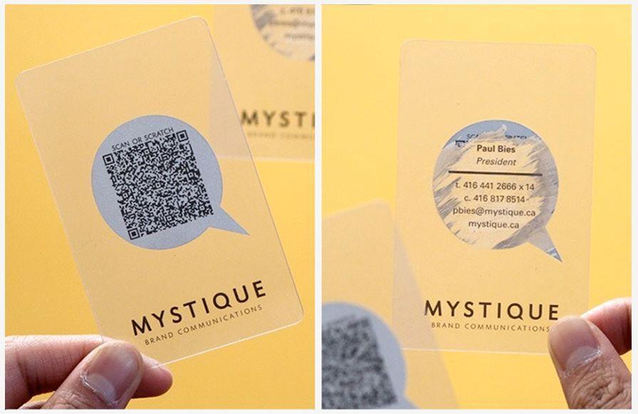 Visitenkarten Vorlagen Transparent Mit Qr Codes 7