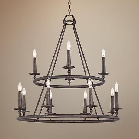 Lamps plus foyer quoizel voyager wide malaga chandelier