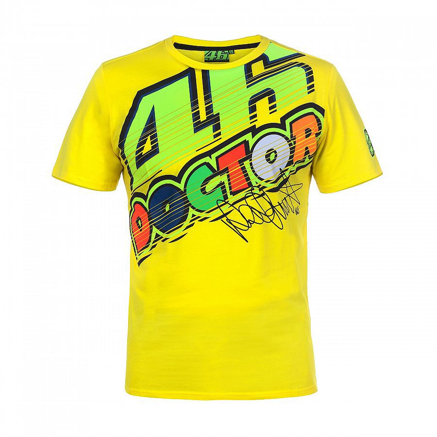 2017 Vr46 Valentino Rossi T Shirt Moto Gp Motorcycle Racing 46 The Doctor Yellow Men S T Shirt Vr46 Valentino Rossi Valentino Rossi Yellow T Shirt