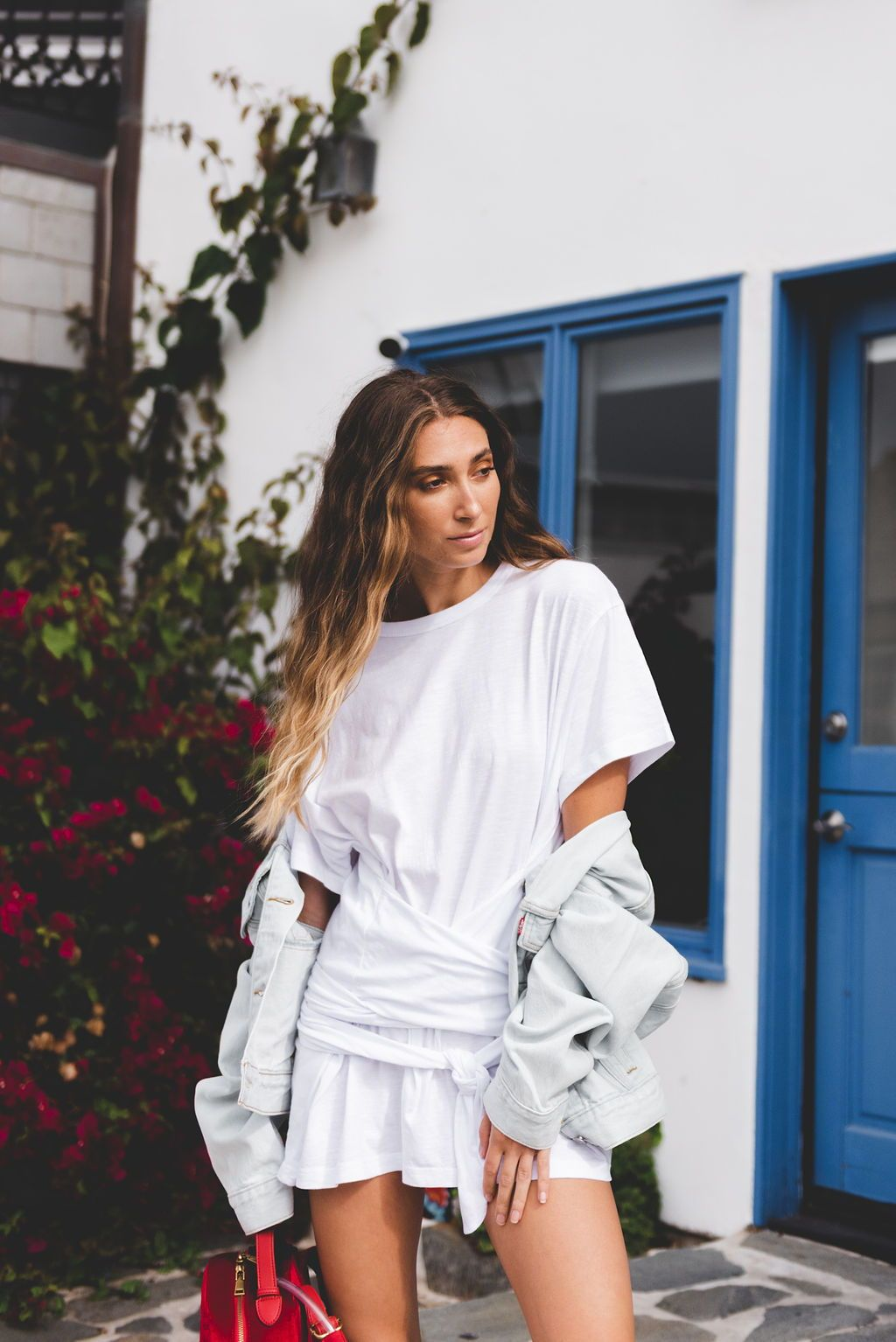 Levis white short sleeve wrap top in 2019 light wash