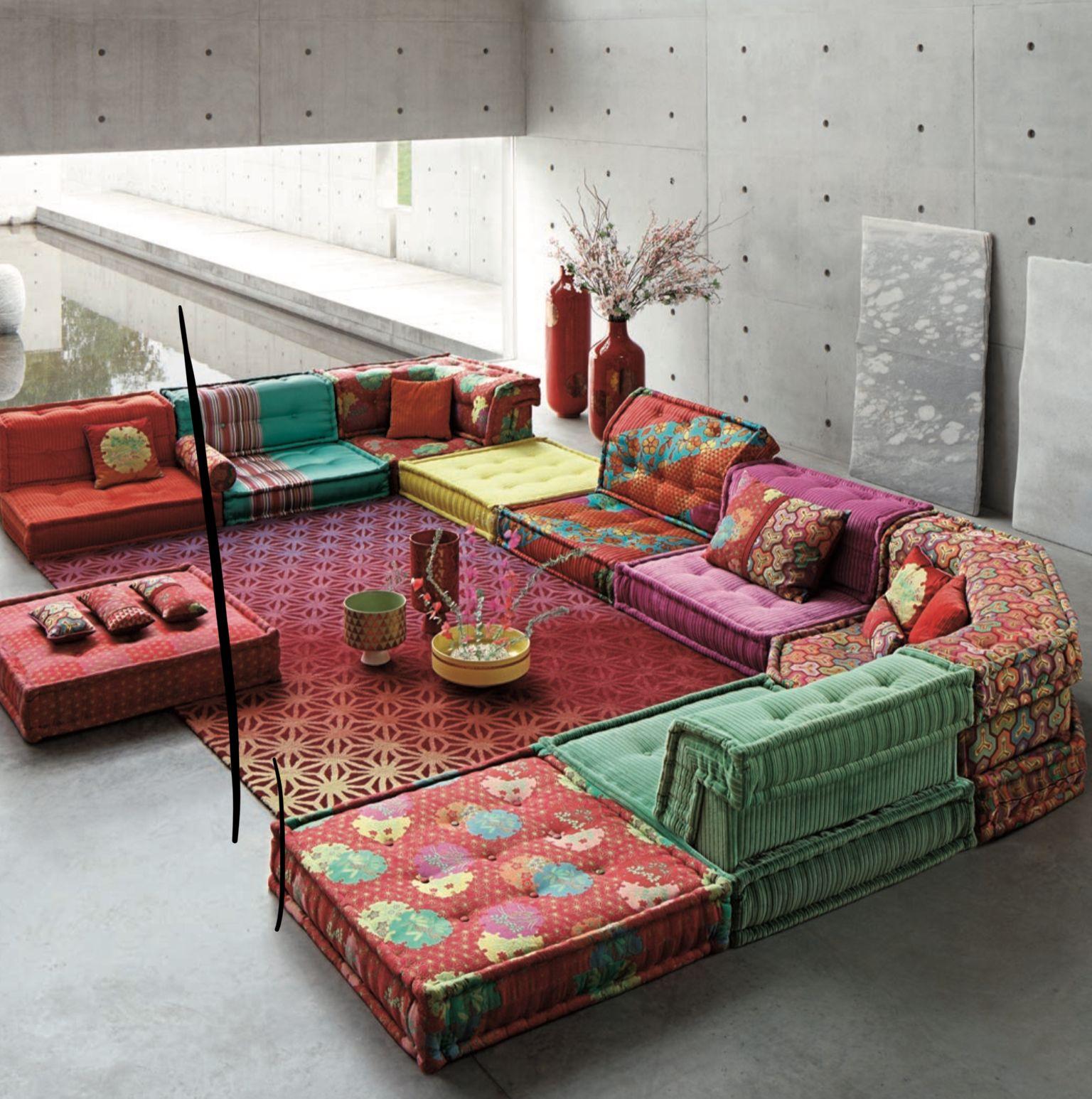 Kenzo Takada Roche Bobois Floor Seating Living Room Floor Seating Living Room Seating