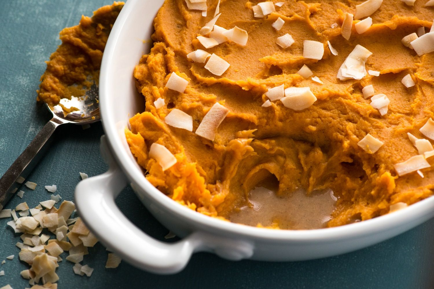 These whipped sweet potatoes are a great recipe when you need to get out of a vegetable rut. They're a little more dressed up than the average weeknight side so think of them as a minimalist dish for your holiday feast. With coconut milk for interest and richness, and a swirl of vanilla bean paste, consider adding this to the Thanksgiving table when you want something on the sweeter side that still leaves the marshmallows out of the equation.