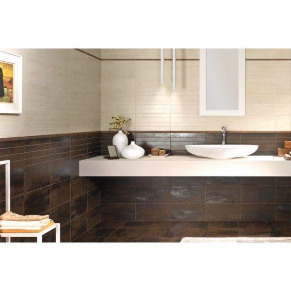 carrelage m tal rouill cm salle de bain. Black Bedroom Furniture Sets. Home Design Ideas