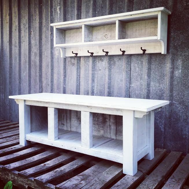 Custom Bench And Shelf Cubby Set For Chris