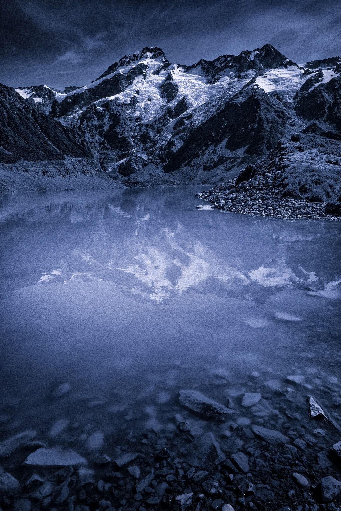 Glaciel Reflection - Glacier at Mt Cook, had to get off the beaten track slightly to get this.