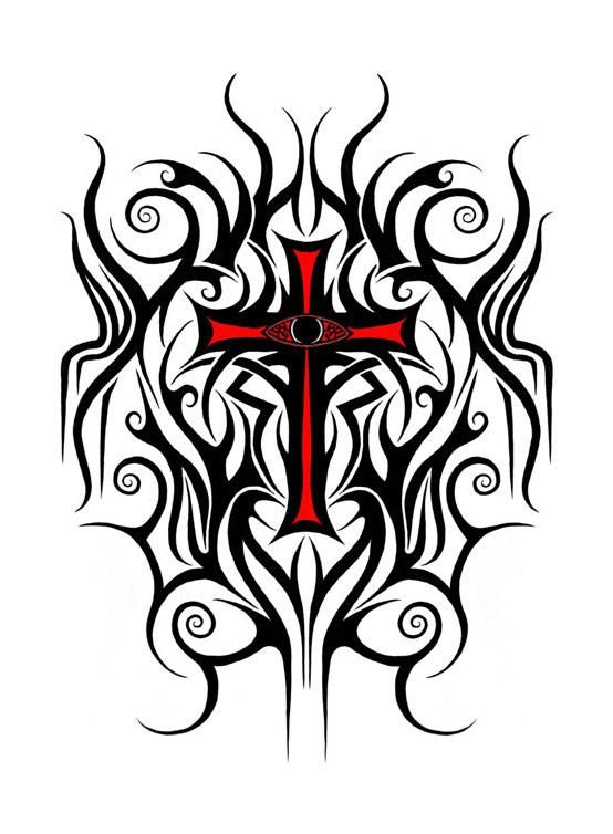 Cross Tattoo Designs For Gabe No Eye And All Black Tattoos