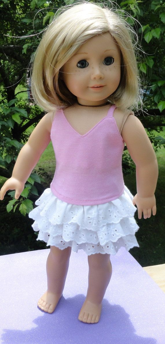 American Girl Doll Clothes  Skirt Outfit  White by SarahAnnDoll, $9.99
