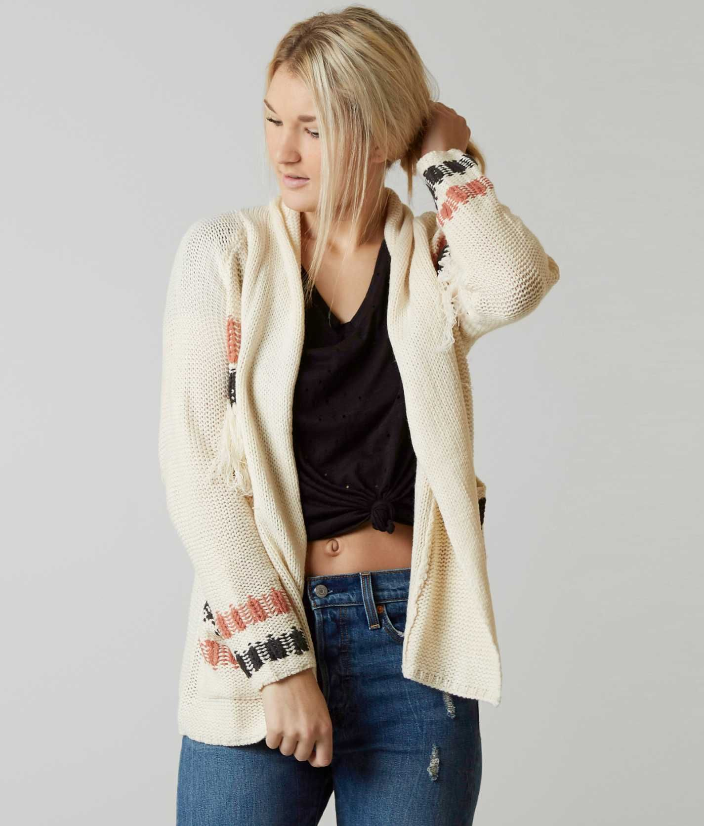 Billabong In Stitches Cardigan Sweater - Women's Sweaters in White ...